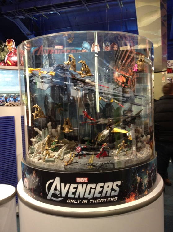 Avengers Display from Toys R Us NYC
