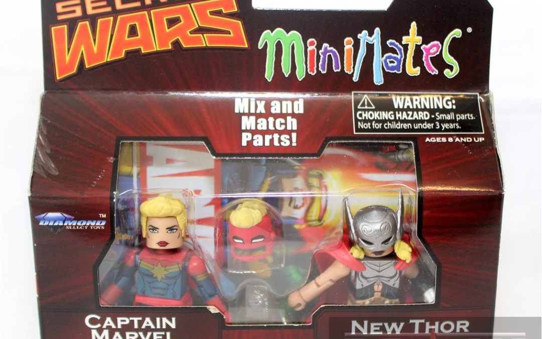 Diamond Select Toys Minimates: Series 64 Secret Wars Captain Marvel and Jane Foster Thor