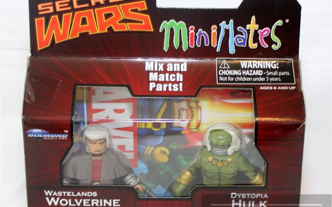 Diamond Select Toys Minimates: Series 64 Secret Wars Wastelands Wolverine and Dystopia Hulk