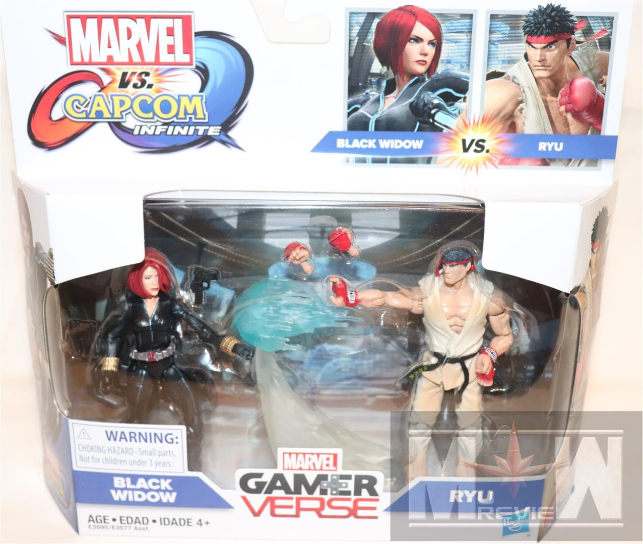 Marvel gamerverse Black Widow /& Ryu 2PK figura Set